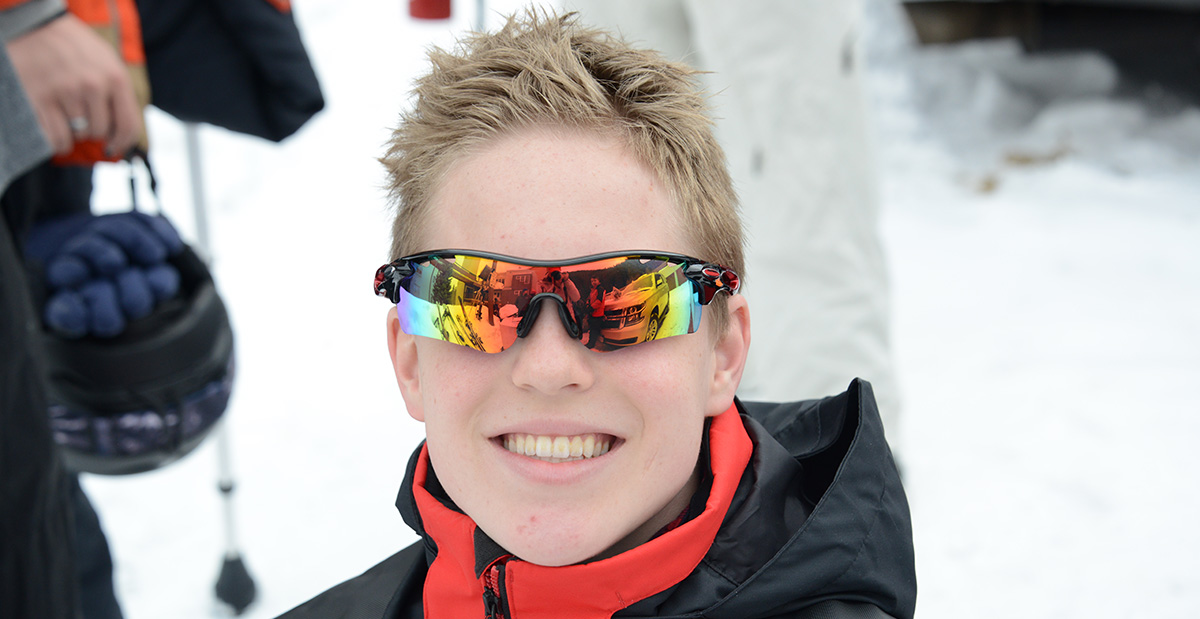 Cody with sunglasses on in Winter Park Colorado