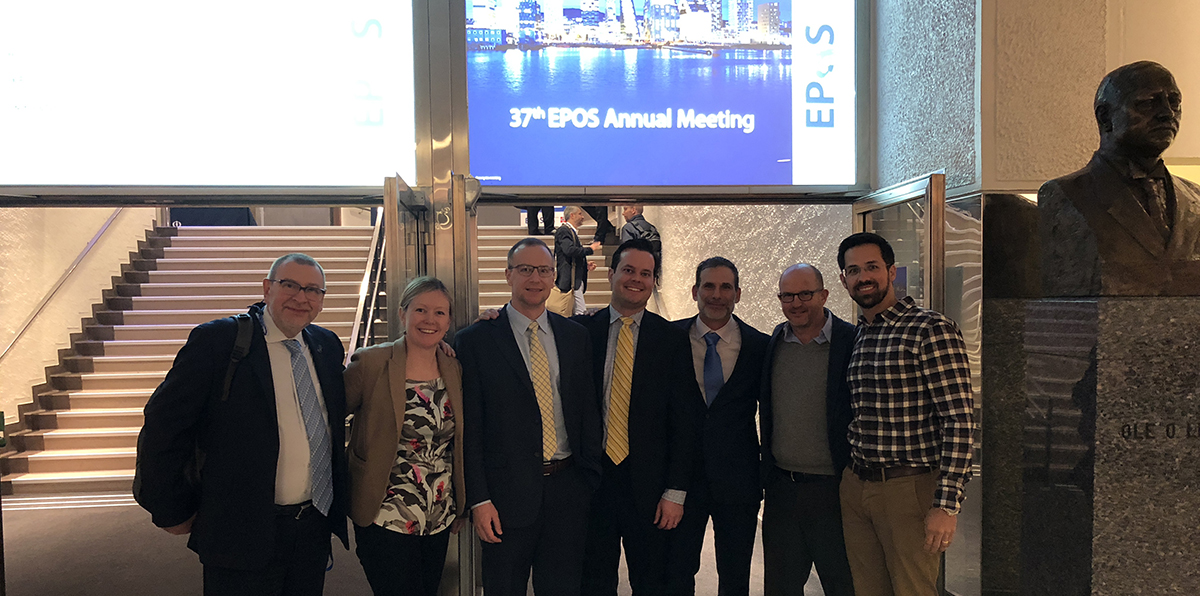 Current and former orthopedic staff at the 2018 EPOS meeting.