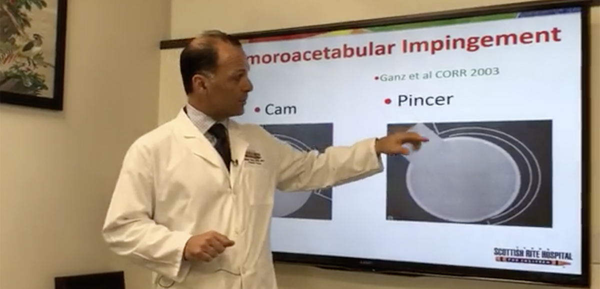 Dr. Sucato explains the two types of FAI.