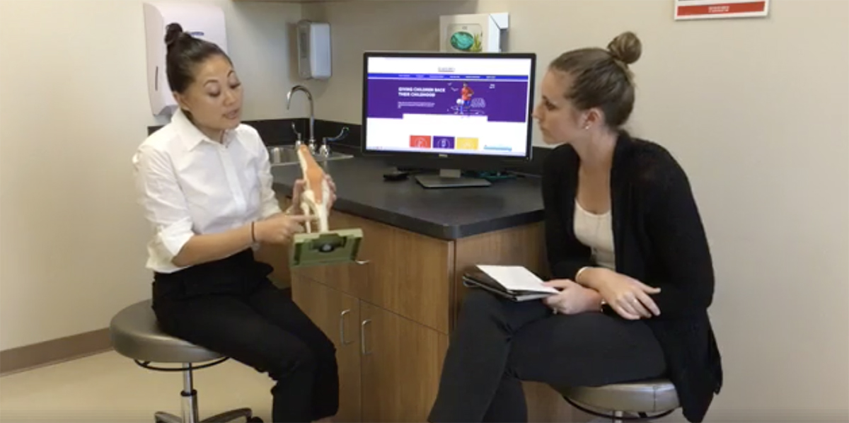 Dr. Chung discusses stress fractures on Facebook live.