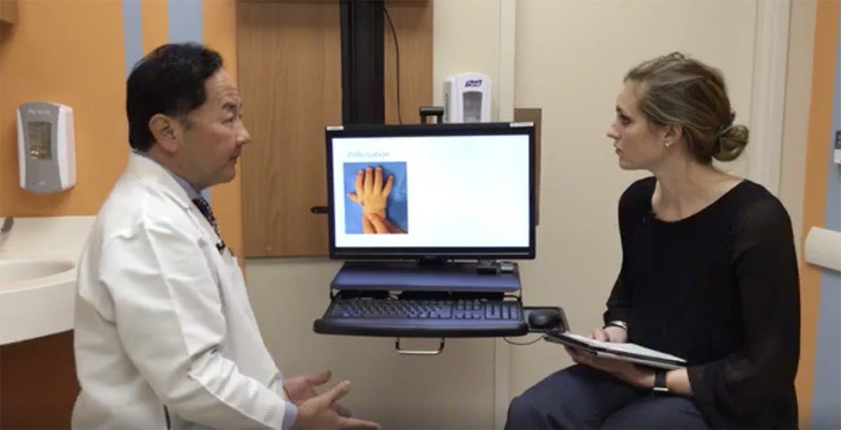Dr. Oishi discusses the most common hand conditions treated at the hospital on Facebook live.
