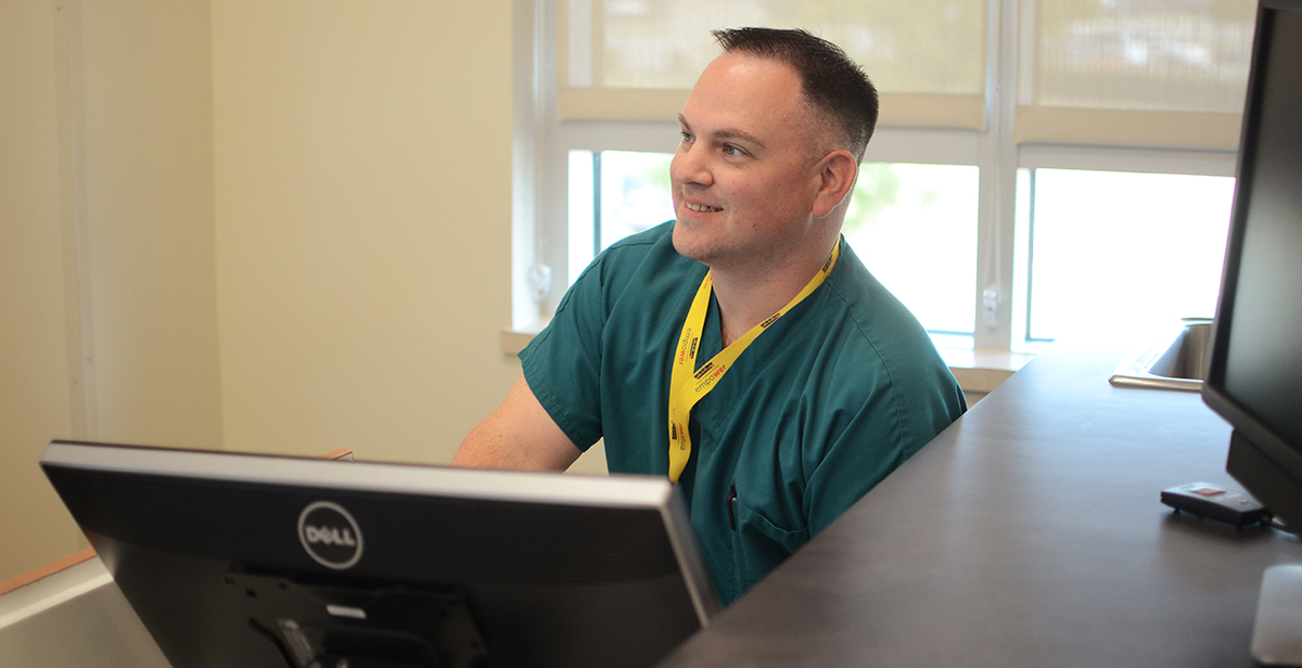 Our medical assistant James works at our North Campus.