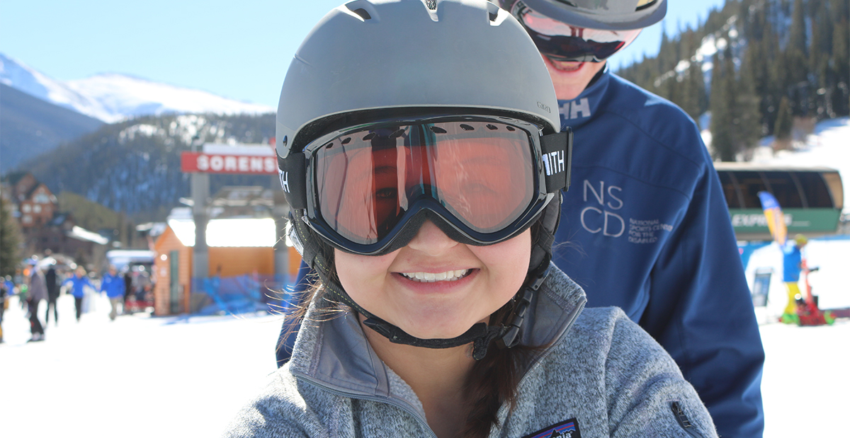 Ryanne in Colorado on the amputee ski trip