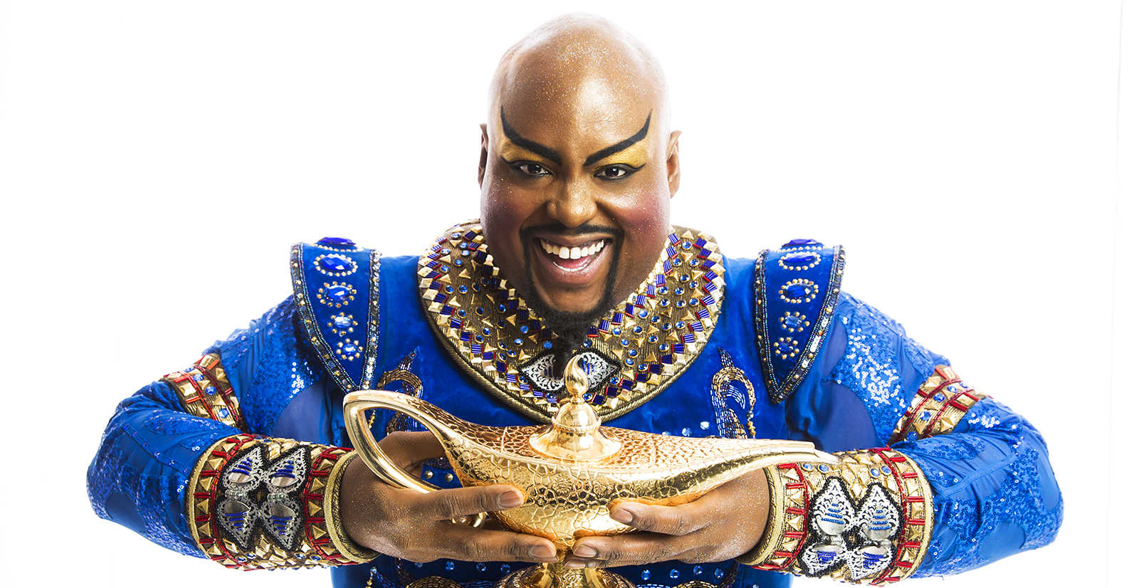 Former patient on broadway as Genie
