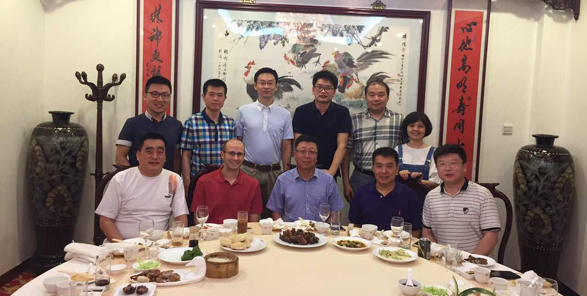 Scottish Rite Hospital doctor and researcher at dinner in China.