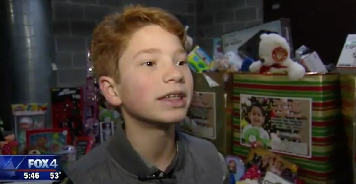 red headed boy being interviewed