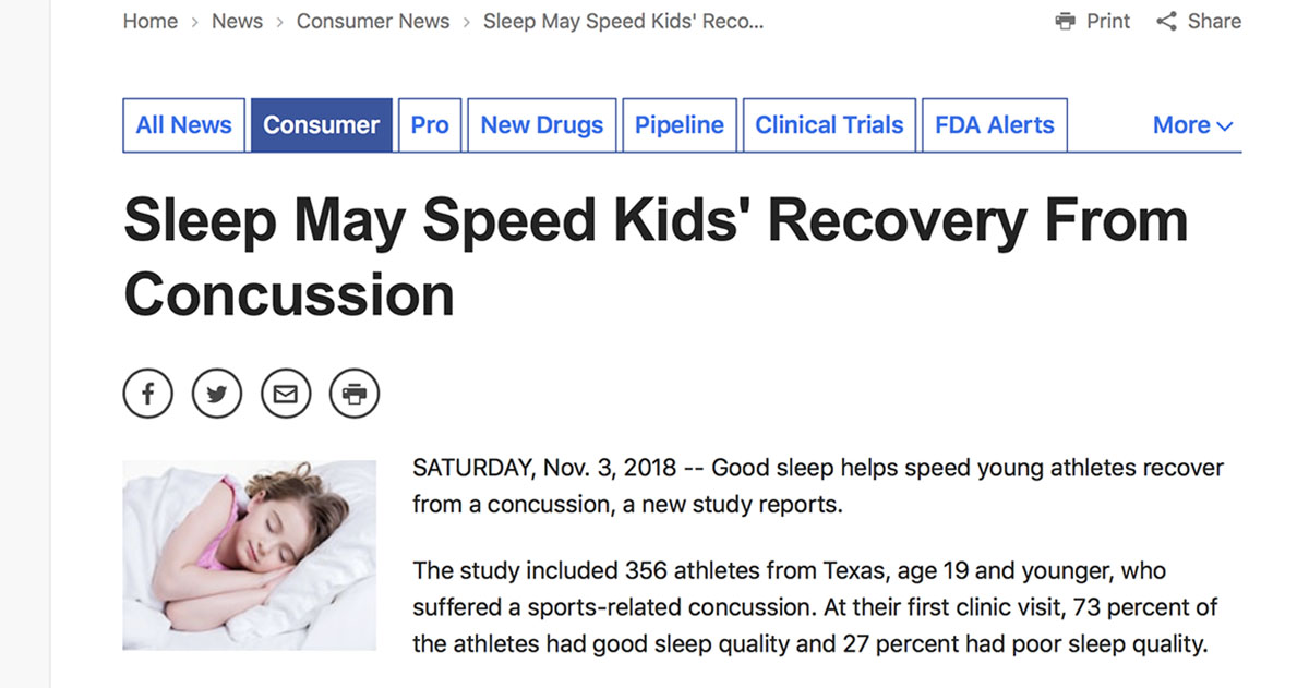 New Concussion Recommendations For Kids >> Drugs Com Sleep May Speed Kids Recovery From Concussion