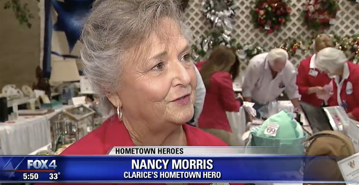 nancy morris hometown hero at bazaar