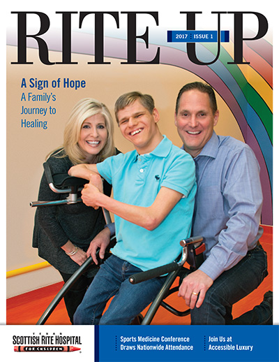 Texas Scottish Rite Hospital for Children Rite Up magazine cover 2017 issue 1