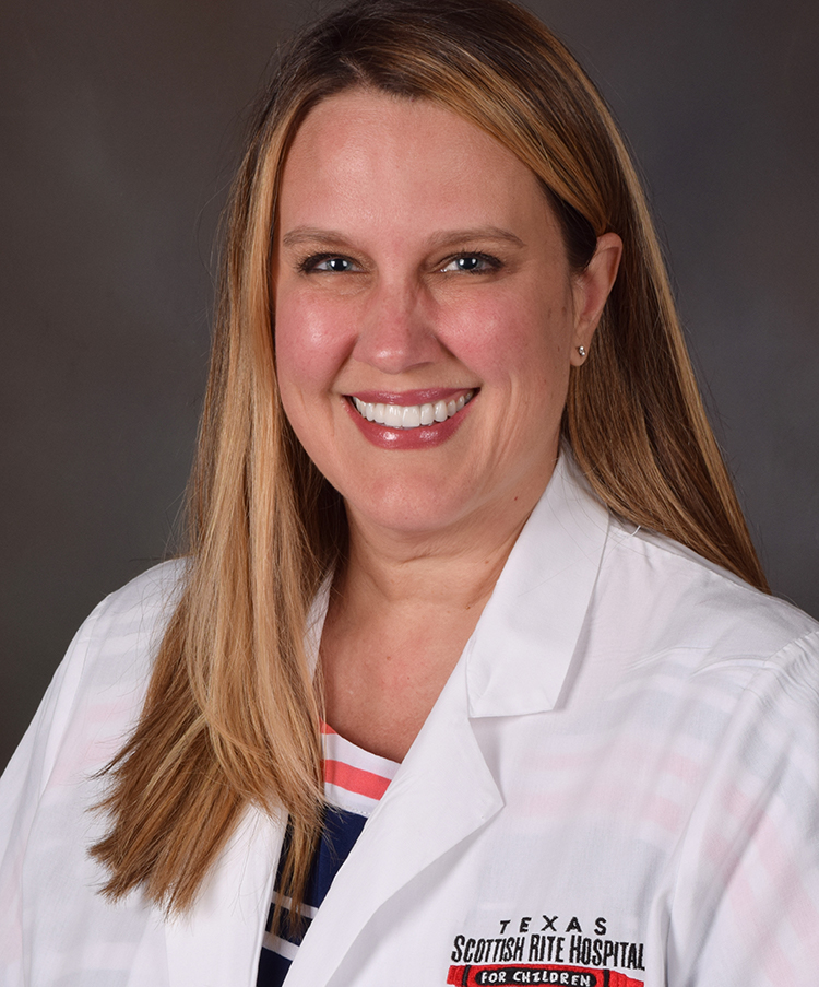 Stephanie de Jager, M.S.N., CPNP, is a certified pediatric nurse practitioner at Scottish Rite for Children.