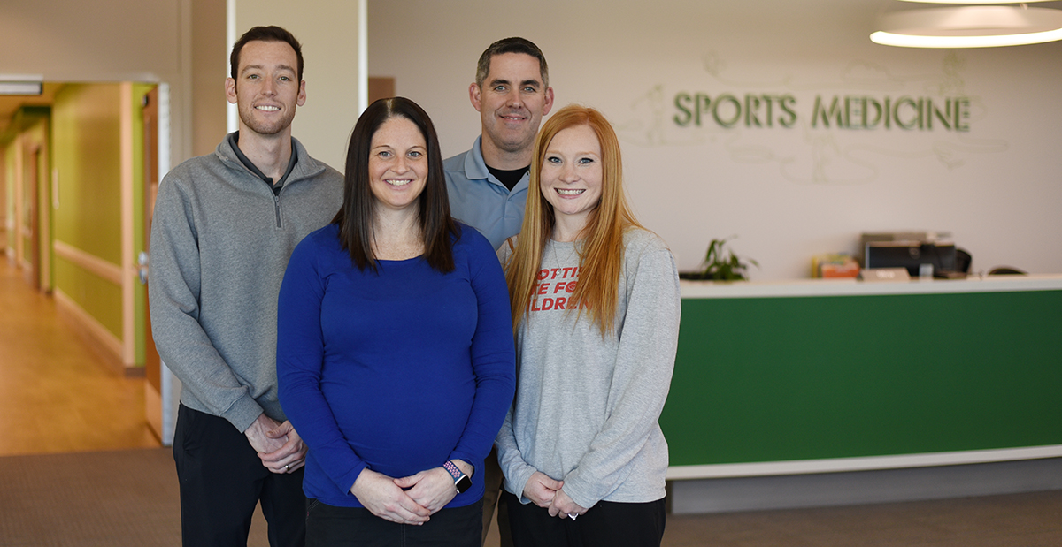 Athletic trainers at the Frisco campus