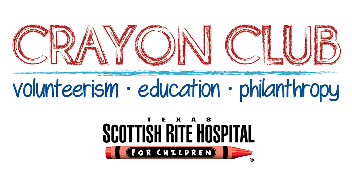 Texas Scottish Rite Hospital for Children Crayon Club logo