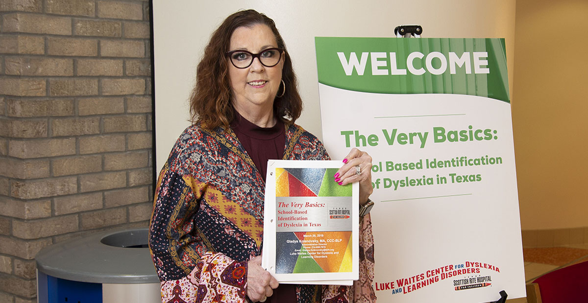 Tricia outside dyslexia conference