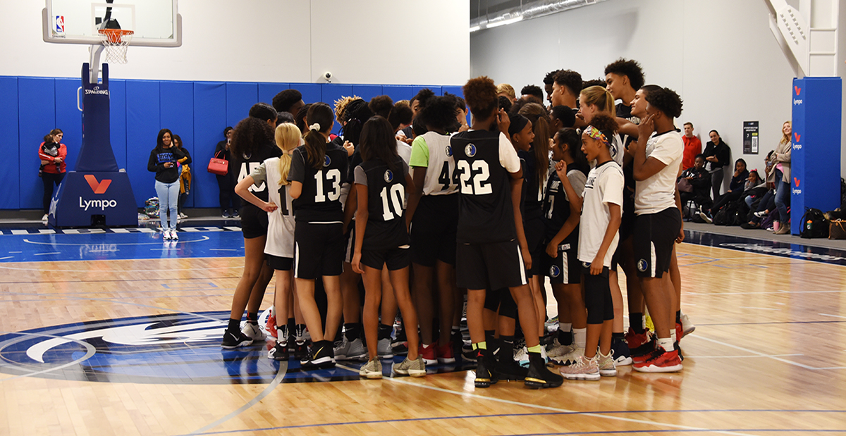 Group of middle school basketball players