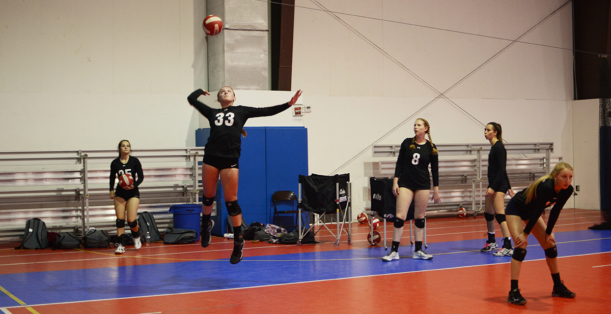 young volleyball player in a game