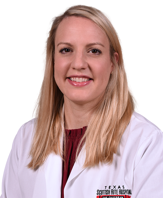 Megan E. Johnson, M.D., is a pediatric orthopedic surgeon and the medical director of Ambulatory Care at Scottish Rite for Children. She sees patients at our Dallas campus.