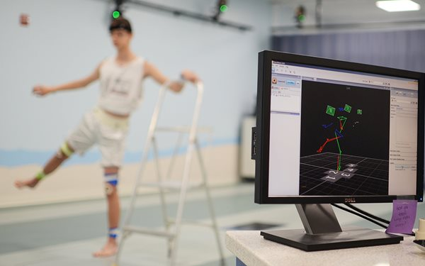 Texas Scottish Rite Hospital for Children's Movement Science Laboratory using 3D motion capture technology
