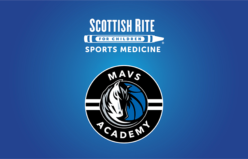 Scottish Rite and Mavs Academy logos