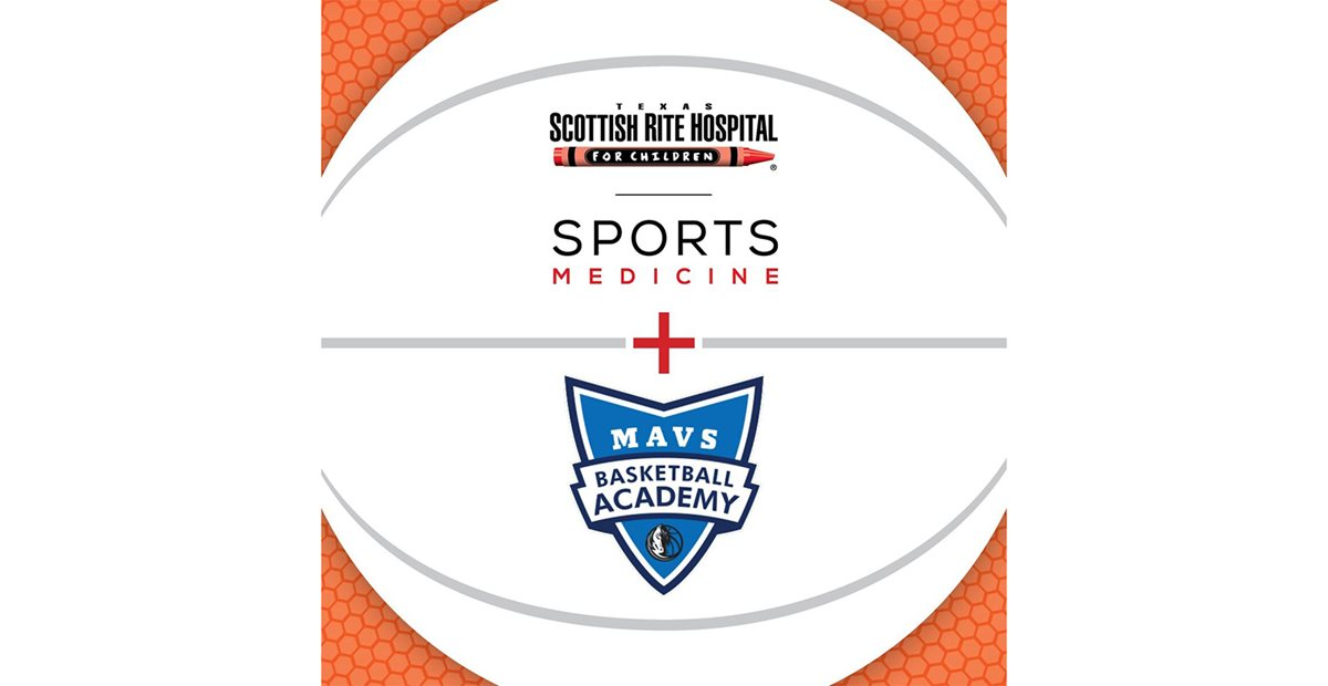 Sports Medicine logo plus the Mavs Basketball Academy logo