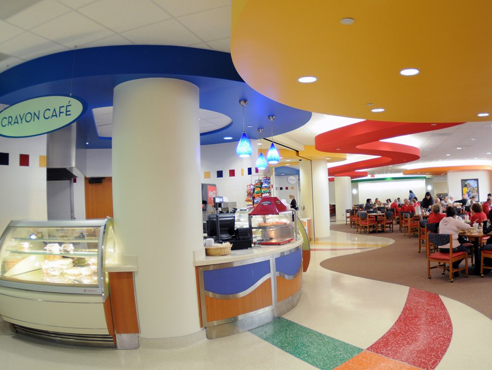 Crayon Cafe and dining options available at Texas Scottish Rite Hospital for Children