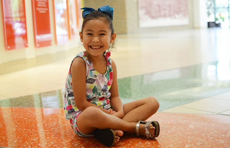 Smiling pediatric patient at Texas Scottish Rite Hospital for Children