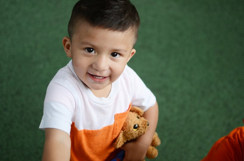 Pediatric patient Izaac Barrerto at Texas Scottish Rite Hospital for Children