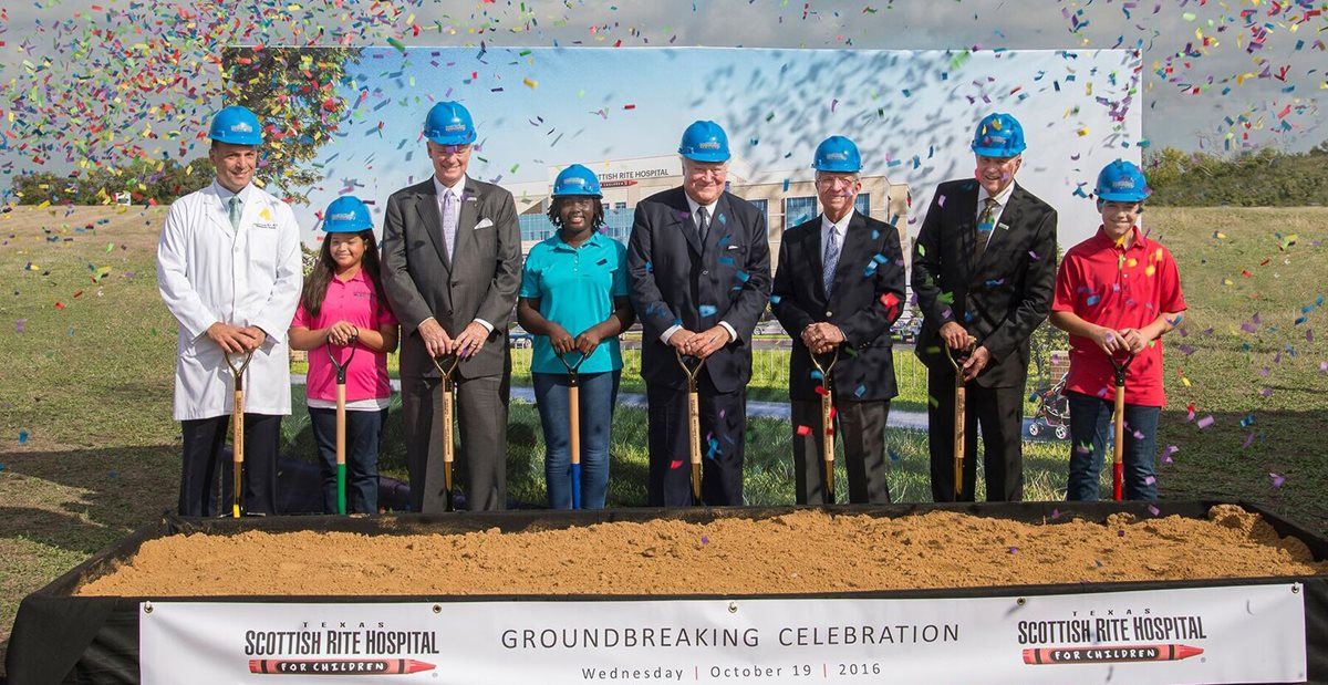 Scottish Rite Hospital breaks ground on new hospital