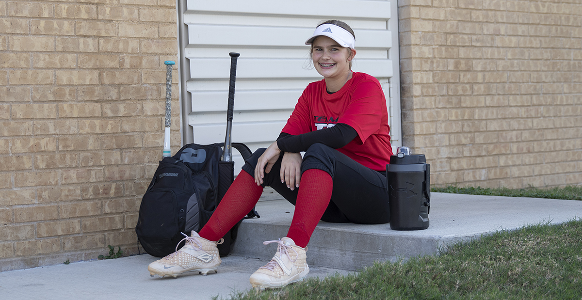 softball player outside