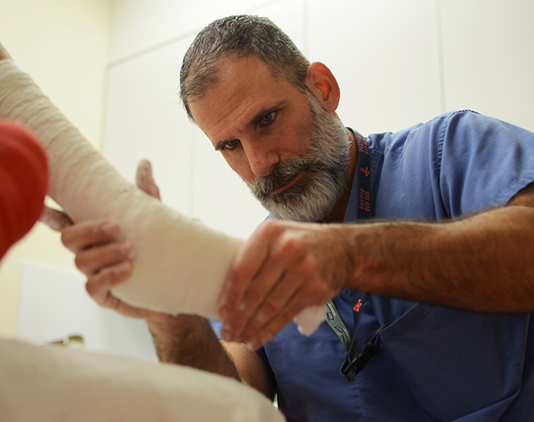 Patient receiving treatment for clubfoot at Center for Excellence in Foot at Texas Scottish Rite Hospital for Children