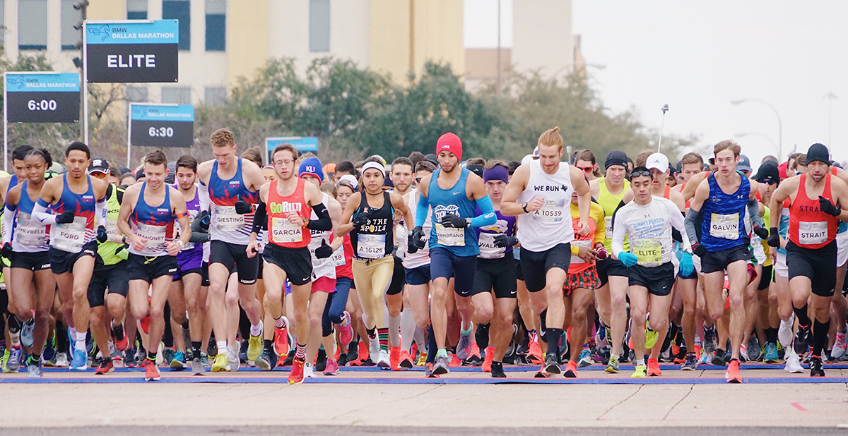 Runners participating in Dallas Marathon benefiting Texas Scottish Rite Hospital for Children