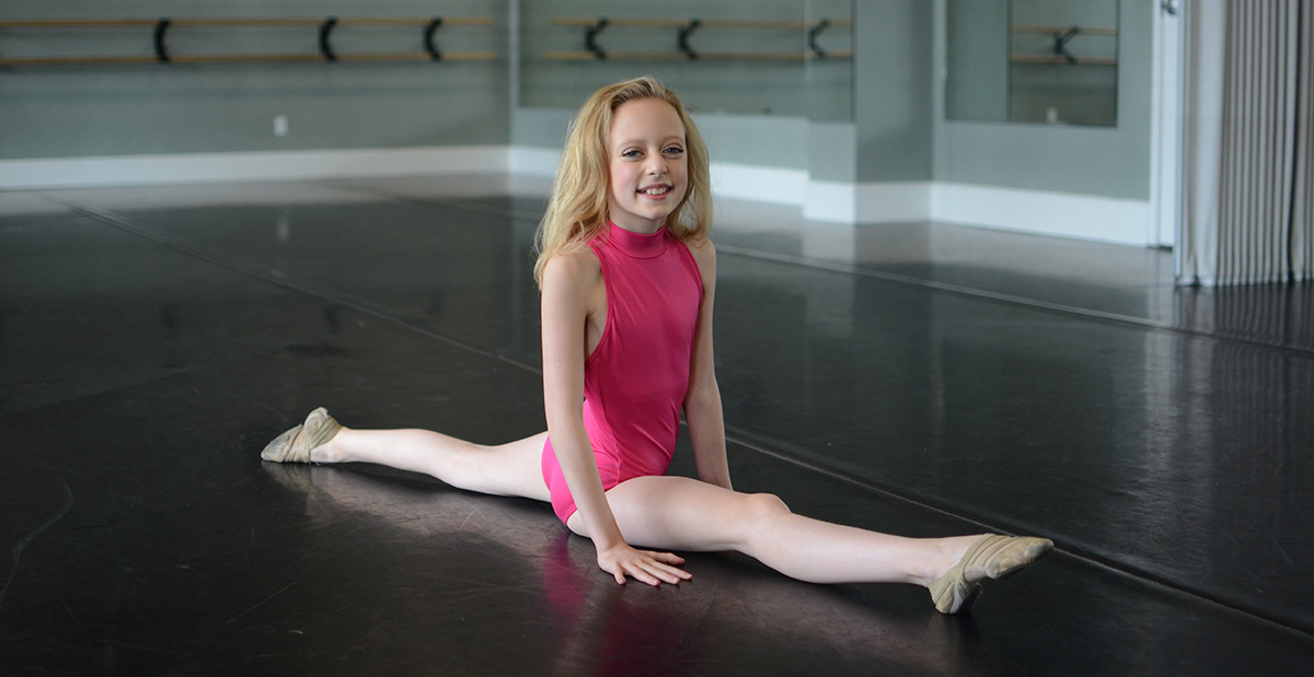 patient, olivia doing the splits