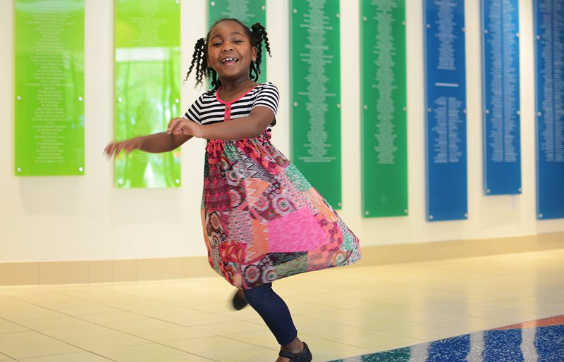 Patient dancing at Texas Scottish Rite Hospital for Children